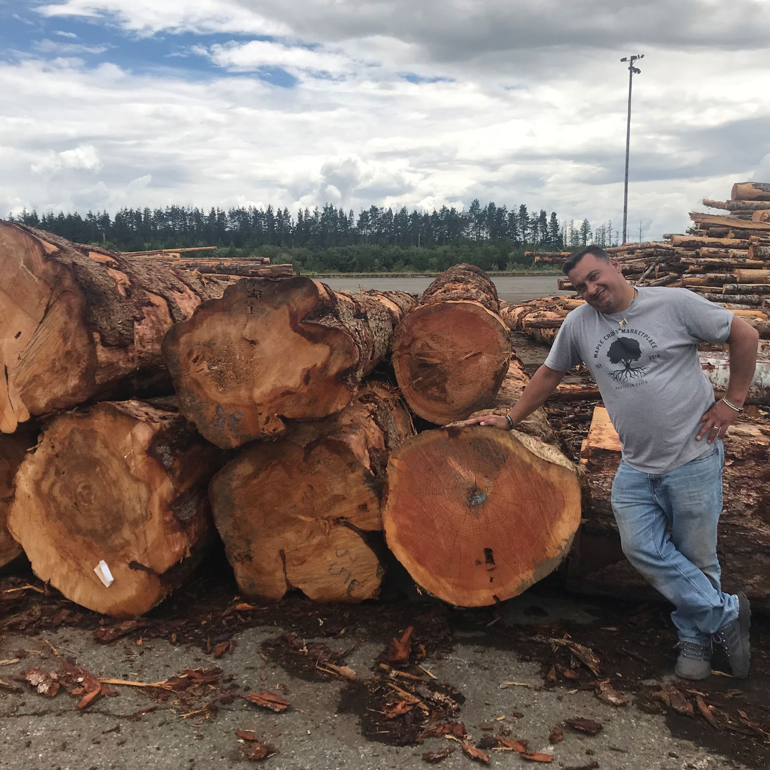 Maple Cross Sawmill Owner Rob on Logs